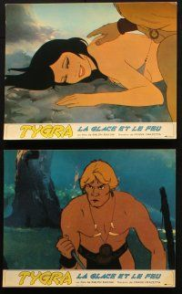 5a047 FIRE & ICE set of 12 French LCs '83 Ralph Bakshi & Frank Frazetta fantasy feature cartoon!