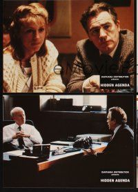 5a062 HIDDEN AGENDA set of 8 French LCs '90 directed by Ken Loach, Frances McDormand, John Benfield