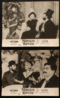 5a044 MOULIN ROUGE set of 28 French LCs '53 Jose Ferrer as Toulouse-Lautrec, Zsa Zsa Gabor!