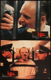 5a056 SILENCE OF THE LAMBS set of 10 French LCs '91 Jodie Foster, Anthony Hopkins, Scott Glenn!