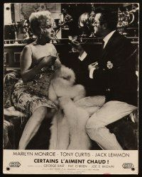 5a075 SOME LIKE IT HOT set of 2 French LCs '59 Marilyn Monroe w/Tony Curtis & Jack Lemmon in drag