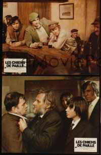 5a060 STRAW DOGS set of 9 style A French LCs '72 Dustin Hoffman & Susan George, Sam Peckinpah!