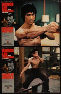 5a031 GAME OF DEATH II set of 4 Hong Kong LCs '81 images of Bruce Lee, See Yuen Ng's Si wang ta!