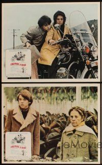 5a037 HAROLD & MAUDE set of 8 Mexican LCs '71 great images of Ruth Gordon & Bud Cort, classic!