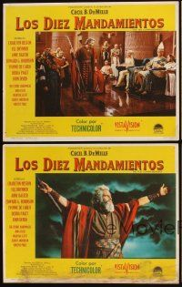 5a038 TEN COMMANDMENTS set of 8 Mexican LCs R60s DeMille classic, Charlton Heston & Yul Brynner!