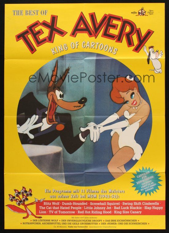 Emovieposter Com 5a326 Best Of Tex Avery German 80s The Wolf