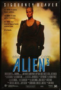 5e065 ALIEN 3 Aust 1sh '92 Sigourney Weaver, 3 times the danger, 3 times the terror!