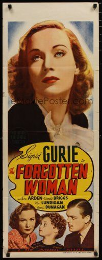 5e044 FORGOTTEN WOMAN long Aust daybill '39 Sigrid Gurie, Donald Briggs, political crime!