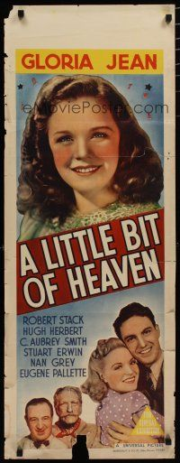 5e055 LITTLE BIT OF HEAVEN long Aust daybill '40 Gloria Jean, young Robert Stack, C. Aubrey Smith!