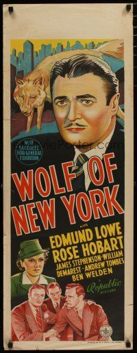 5e064 WOLF OF NEW YORK long Aust daybill '40 Lowe goes from shyster lawyer to D.A. & stops fraud!