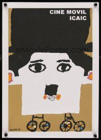 5e002 CINE MOVIL Cuban R90s wacky Bachs artwork of Charlie Chaplin!