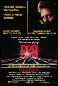 5e005 DEAD ZONE Finnish '83 David Cronenberg, Stephen King, he has the power to see the future!
