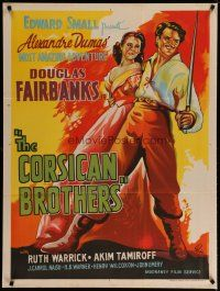 5e010 CORSICAN BROTHERS Indian R60s Douglas Fairbanks Jr. in a dual role as twins, Ruth Warrick!