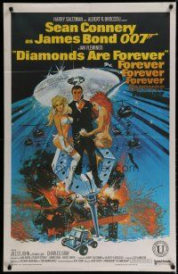 5e011 DIAMONDS ARE FOREVER Indian '71 art of Sean Connery as James Bond by Robert McGinnis!