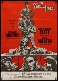 5e017 YOUNG LIONS Pakistani '58 art of Nazi Marlon Brando, Dean Martin & Montgomery Clift!