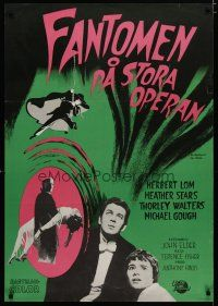 5e080 PHANTOM OF THE OPERA Swedish '63 Hammer horror, Herbert Lom, cool horror art!