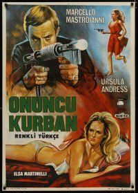 5e028 10th VICTIM Turkish '65 Marcello Mastroianni, different sexy art of Ursula Andress!