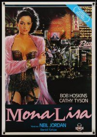 5e035 MONA LISA Turkish '86 Neil Jordan, Bob Hoskins, artwork of sexy Cathy Tyson!