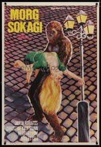 5e036 MURDERS IN THE RUE MORGUE Turkish '71 Edgar Allan Poe, different art of monster & girl!