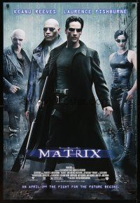 5f531 MATRIX advance DS 1sh '99 Keanu Reeves, Carrie-Anne Moss, Laurence Fishburne, Wachowski Bros!