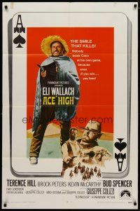 5h014 ACE HIGH int'l 1sh '69 Eli Wallach, Terence Hill, spaghetti western, ace of spades design!