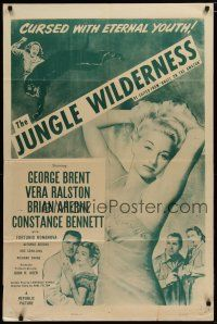 5h043 ANGEL ON THE AMAZON 1sh R54 sexy Vera Ralston, The Jungle Wilderness!