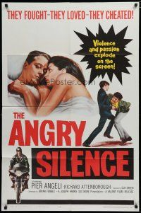 5h045 ANGRY SILENCE 1sh '61 Richard Attenborough, Pier Angeli, Guy Green directed!