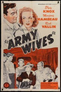 5h052 ARMY WIVES 1sh '44 Elyse Knox, Marjorie Rambeau, World War II Home Front!