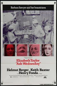 5h056 ASH WEDNESDAY 1sh '73 beautiful aging Elizabeth Taylor gets extensive plastic surgery!