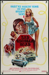 5h064 BAD GEORGIA ROAD 1sh '77 sexy art of Carol Lynley, makin' time to the county line!