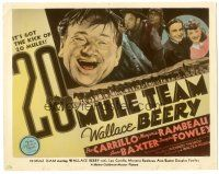5k002 20 MULE TEAM color 8x10 still '40 Wallace Beery, young Anne Baxter, cool title card image!