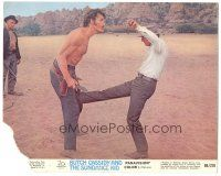 5k012 BUTCH CASSIDY & THE SUNDANCE KID color 8x10 still #6 '69 classic no rules in a fight scene!