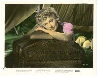 5k015 CATTLE QUEEN OF MONTANA color 8x10.25 still '54 close portrait of sad Barbara Stanwyck!