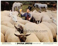 5k022 DOCTOR DOLITTLE color 8x10 still R69 great image of Rex Harrison with sheep, bird & horses!