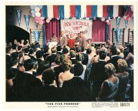 5k028 FIVE PENNIES color 8x10 still '59 Danny Kaye & Barbara Bel Geddes performing on stage!