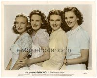 5k030 FOUR DAUGHTERS color 8x10 still '38 Priscilla Lane, Rosemary Lane, Lola Lane & Gale Page!