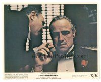 5k035 GODFATHER color 8x10 still '72 best close up of Marlon Brando, Francis Ford Coppola classic!