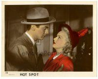 5k045 I WAKE UP SCREAMING color 8x10 still '41 c/u of Victor Mature & Betty Grable, Hot Spot!