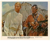 5k050 LAWRENCE OF ARABIA color 8x10 still #2 '62 David Lean, c/u of Peter O'Toole & Anthony Quinn!