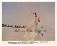 5k052 LAWRENCE OF ARABIA color 8x10 still #8 '62 David Lean, Peter O'Toole leads troops into battle!