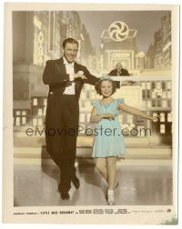 5k056 LITTLE MISS BROADWAY color-glos 8x10 still '38 Shirley Temple dancing with George Murphy!