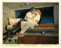 5k067 NORTH BY NORTHWEST color 8x10 still '59 Cary Grant in upper berth kissing Eva Marie Saint!