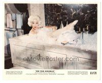5k070 ON THE DOUBLE color 8x10 still '61 best close up of sexy Diana Dors naked in bubble bath!
