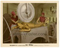 5k001 WIZARD OF OZ color-glos 8x10 still '39 the Tin Man getting buffed before meeting the Wizard!