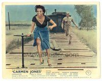 5k013 CARMEN JONES color English FOH LC '54 Harry Belafonte chasing after sexy Dorothy Dandridge!