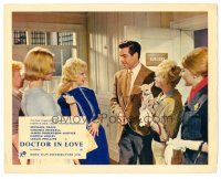 5k023 DOCTOR IN LOVE color English FOH LC '61 Dr. Michael Craig surrounded by pretty ladies!