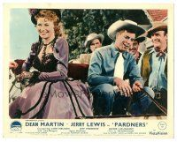 5k072 PARDNERS color English FOH LC '56 cowboy Jerry Lewis on horse buggy with pretty Lori Nelson!