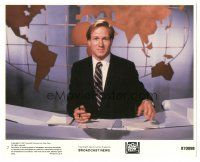 5k011 BROADCAST NEWS 8x10 mini LC #7 '87 great close up of William Hurt behind the news desk!