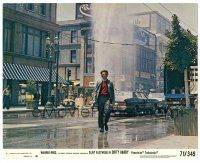 5k021 DIRTY HARRY 8x10 mini LC #7 '71 great image of Clint Eastwood walking street with gun drawn!