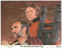 5k059 MAN WHO WOULD BE KING 8x10 mini LC #5 '75 great close up of Sean Connery & Michael Caine!